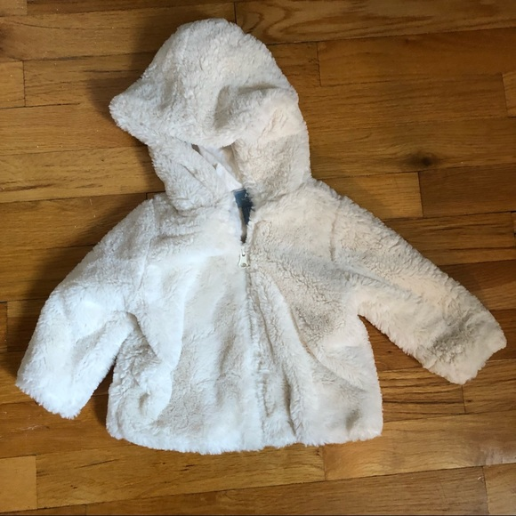 Baby Gap furry jacket size 6-12 months